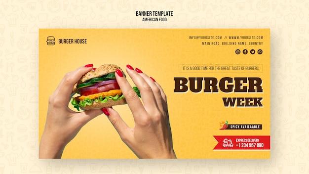 Banner american food vorlage