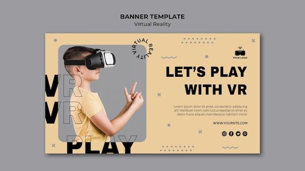 Banner der virtuellen realität