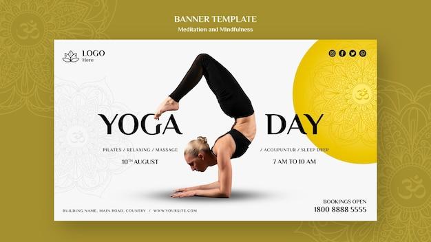 Banner-design für meditation und achtsamkeit