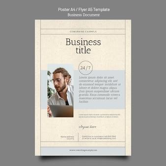 Banner-designvorlage für geschäftsdokumente