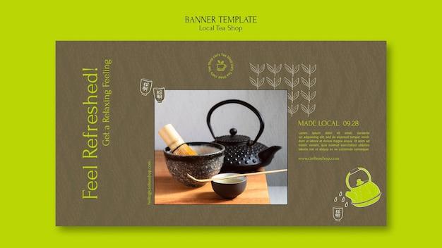 Banner-designvorlage für lokale teeläden