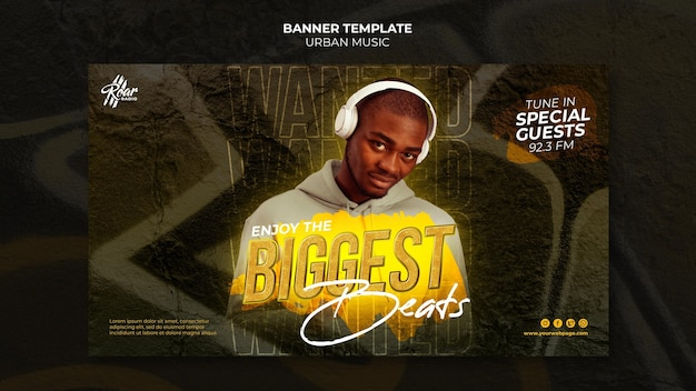 Banner-designvorlage für urbane musik
