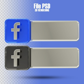 Banner facebook 3d-rendering