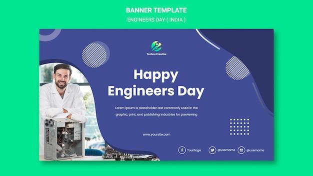 Banner für die feier des ingenieurtags
