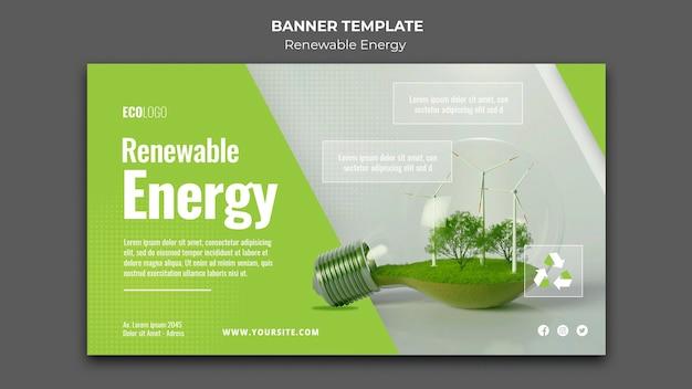 Banner für erneuerbare energieressourcen