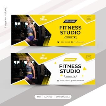 Banner für fitnessstudio festgelegt