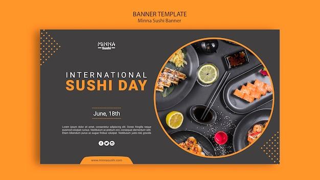 Banner für internationalen sushi-tag