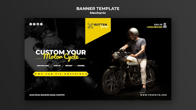 Banner für motorradwerkstatt