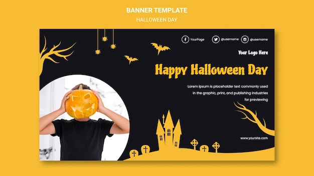 Banner halloween party vorlage