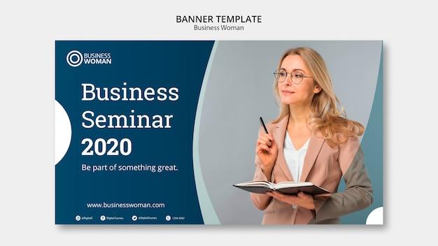 Banner-konzept für unternehmensvorlage