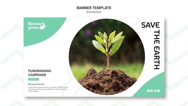Banner-konzept mit umweltthema
