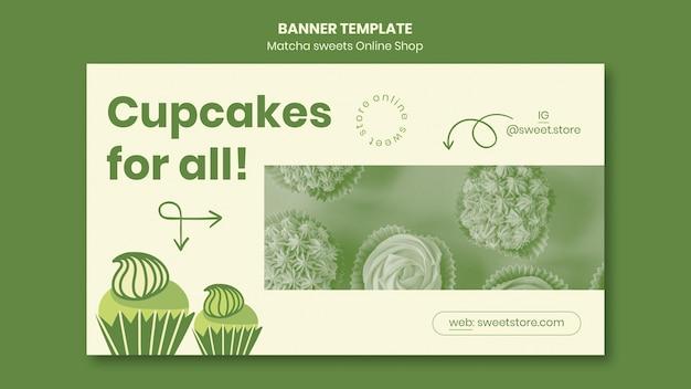 Banner matcha süßigkeiten vorlage