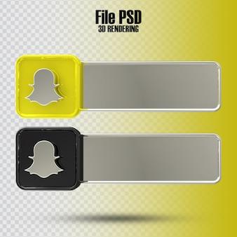 Banner snapchat 3d-rendering