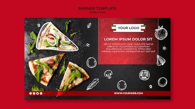 Banner-stil der italienischen küche