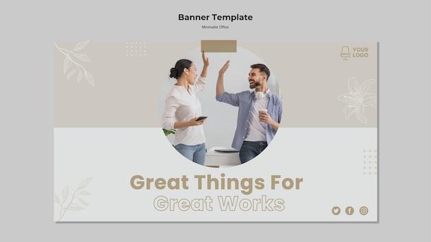 Banner-stil des minimalismus-konzepts