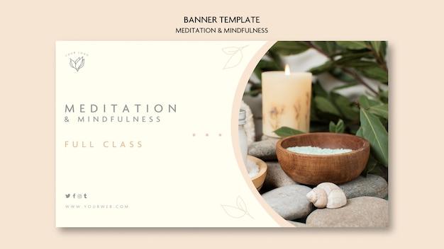 Banner-thema meditation und achtsamkeit