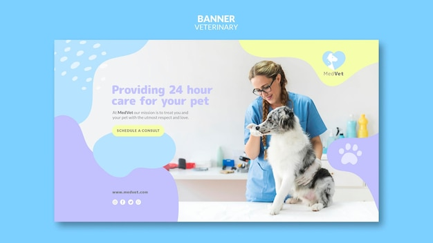 Banner veterinärklinik vorlage