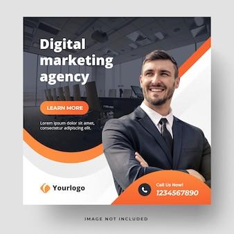 Banner-vorlage der agentur für digitales marketing