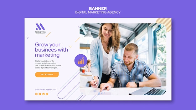 Banner-vorlage der agentur für digitales marketing