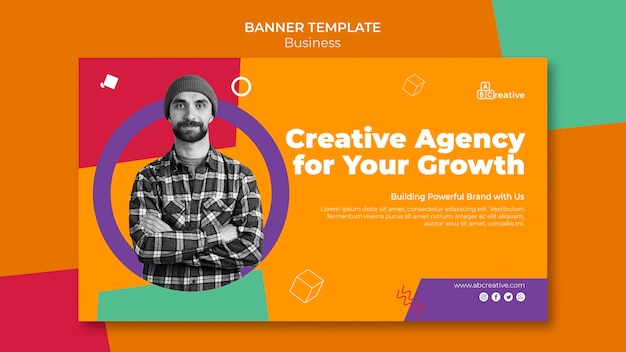 Banner-vorlage der kreativagentur