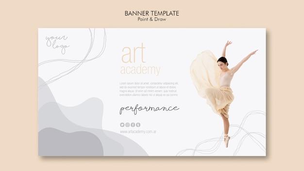Banner-vorlage der kunstakademie