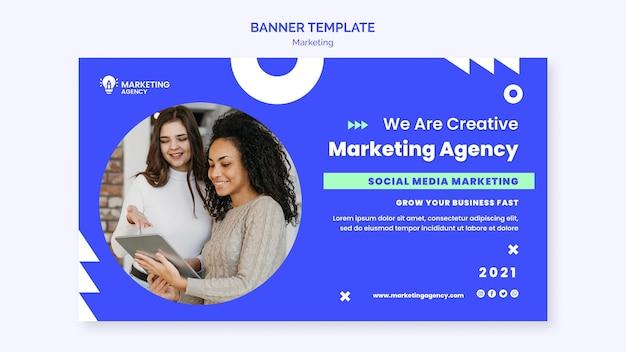 Banner-vorlage der marketingagentur