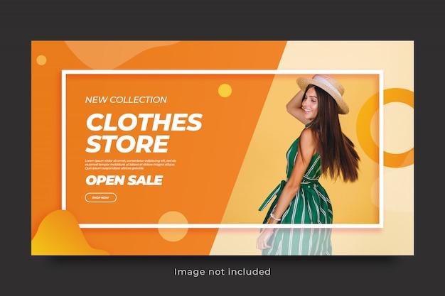 Banner vorlage des modeverkaufs für social media post