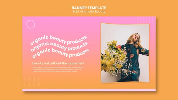 Banner-vorlage für bio-schönheitsprodukte