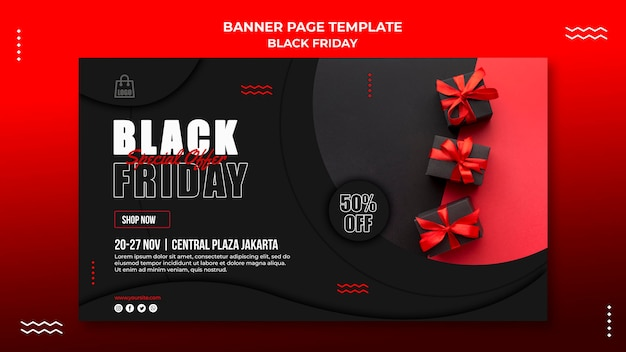 Banner vorlage für black friday sale