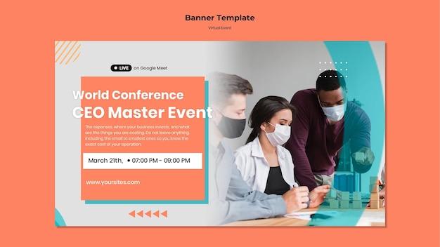 Banner vorlage für ceo master event konferenz