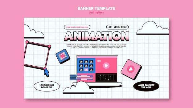 Banner-vorlage für computeranimation