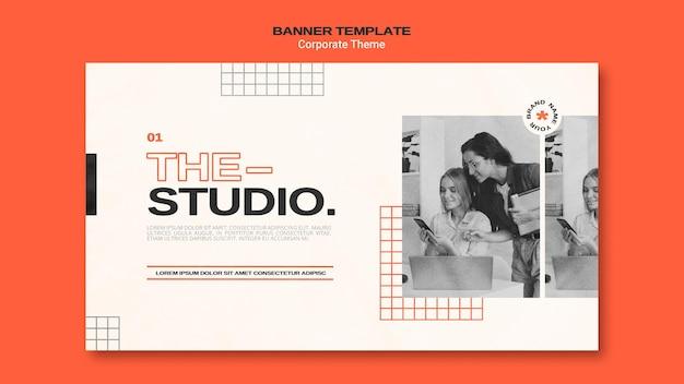 Banner vorlage für corporate studio