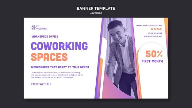 Banner vorlage für coworking space