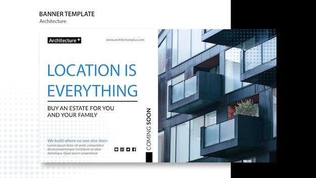 Banner-vorlage für das architekturkonzept