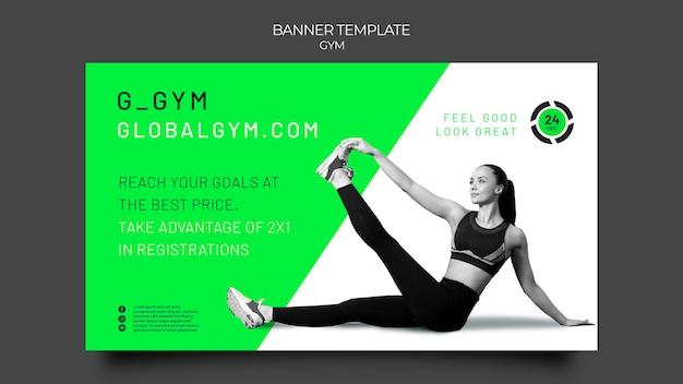 Banner-vorlage für das fitnessstudio-training