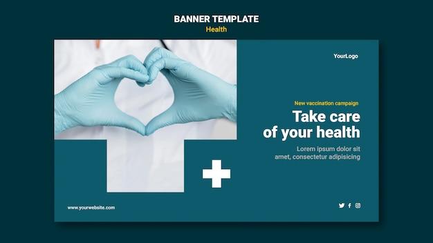 Banner-vorlage für das gesundheitswesen
