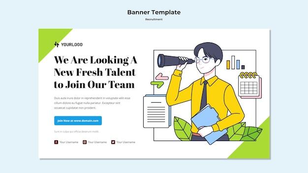Banner-vorlage für das rekrutierungskonzept