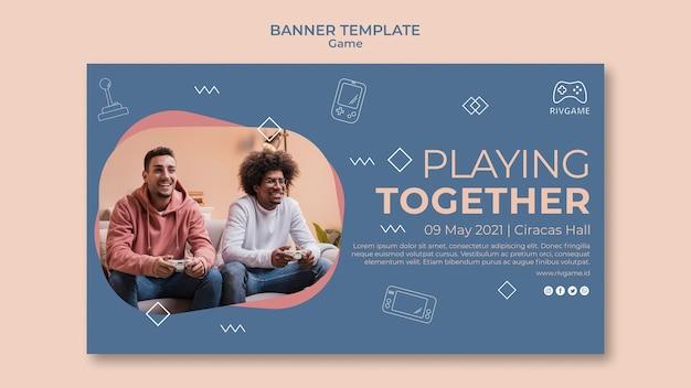 Banner-vorlage für das spielkonzept