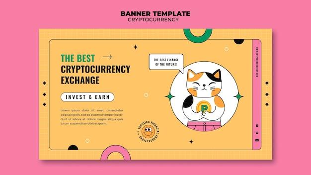 Banner-vorlage für den kryptowährungsaustausch