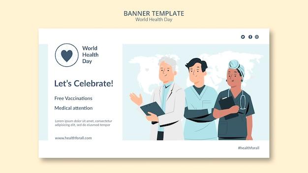 Banner-vorlage für den weltgesundheitstag