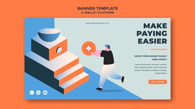 Banner-vorlage für die e-wallet-app