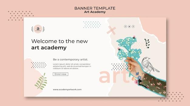 Banner-vorlage für die kunstakademie