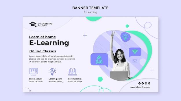 Banner-vorlage für e-learning-plattformen