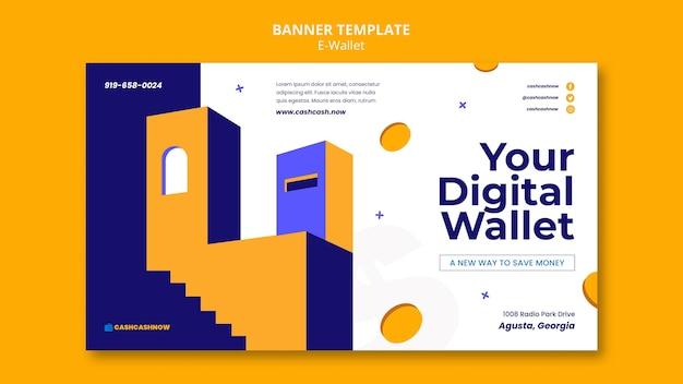 Banner-vorlage für e-wallet-dienste