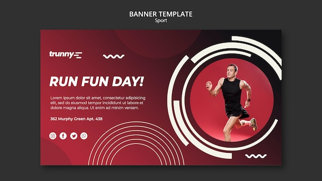 Banner vorlage für fitness