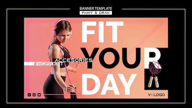 Banner vorlage für fitnesstraining