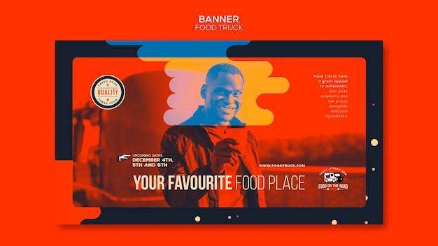 Banner vorlage für food truck geschäft