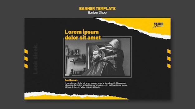 Banner vorlage für friseurgeschäft