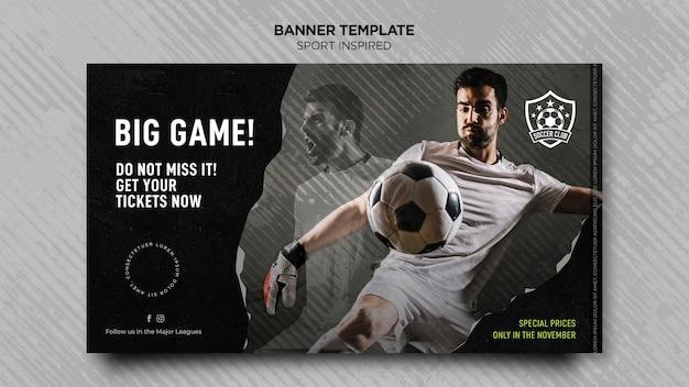 Banner vorlage für fußballverein