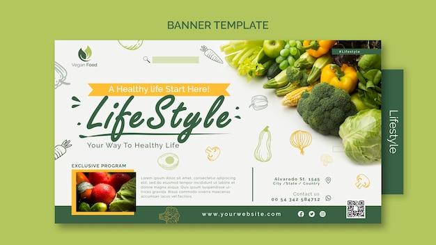 Banner-vorlage für gesunde ernährung